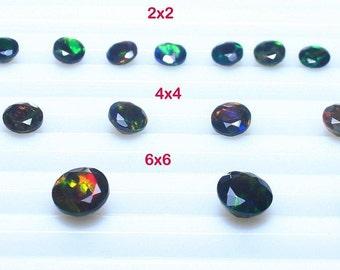 AAA Grade Opal,Opal Crystal,Black Opal,Natural Ethiopian Opal,Round Shape,AAA+ Faceted Black Opal,Opal Cut,Loose Opal  BD-31