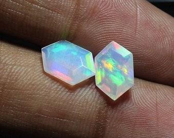 AAA Grade Opal,Welo Opal,faceted opal,crystal opal,Ethiopian Opal,Fancy Hexagon Shape,AAA Opal Cut,Size 7x11mm,Loose Opal For Jewelry BF100