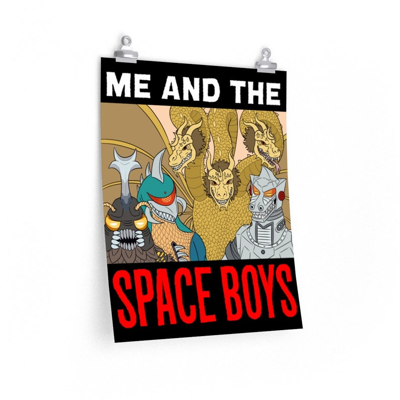 Me And The Space Boys Poster