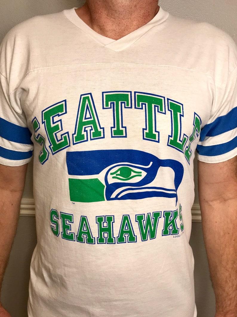 more photos c5ed8 4d031 Seattle Seahawks Vintage Football Jersey T-Shirt
