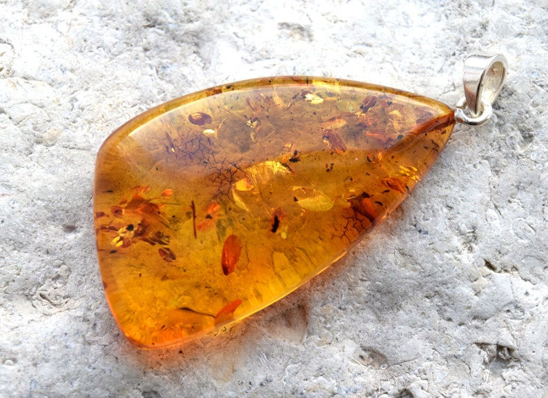 Natural Baltic Amber Pendant Amber Necklace Large Cognac Color Baltic Amber Pendant,Amber Jewelry Amber Gift Birthday Gift
