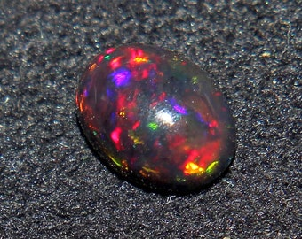 AAA 8X8 MM Black opal round cabochon 100/% Natural Black opal Round cabochon Fire Black Opal loose gemstone \u2013 Wholesale lot