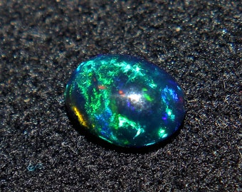 1 piece,9*7 mm BlackOpal-Ethiopian Opal-Multi Fire Opal-Opal Cabochon-Loose Opal-Opal For Jewelry-Calibrated Fire Opal-October Birthstone