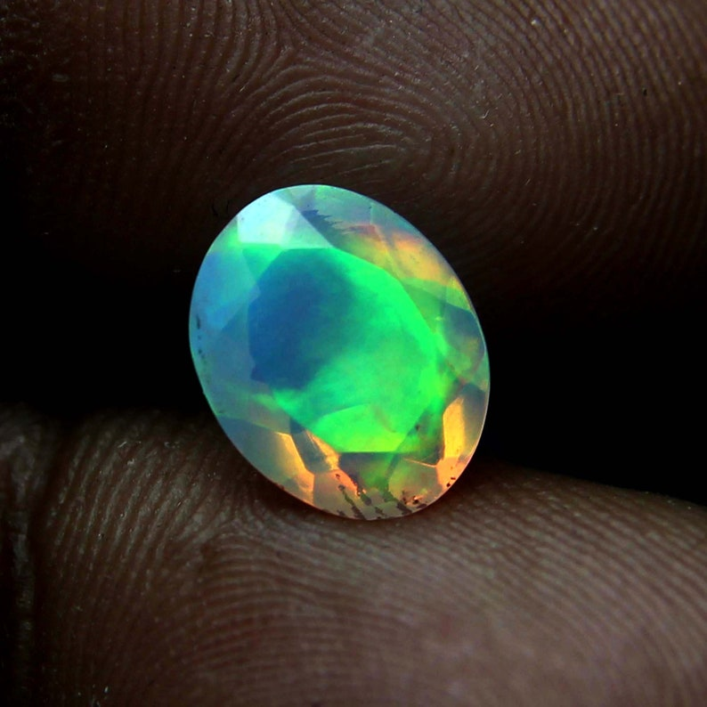10x12 MM Natural Faceted Oval Gemstone-Loose Faceted Oval-Oval Cut Loose Opal Gemstone-Fire Opal Cut-Calibrated Opal-October Birthstone