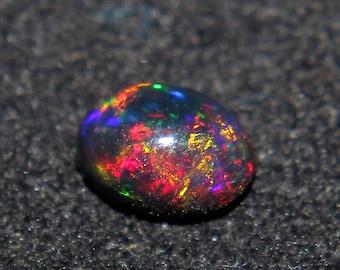 7x5mm Opal - Natural Black Ethiopian Fire opal- Black Opal - Welo fire opal - October birthstone  - Opal Stone- Opal Cabochon - Loose Opal