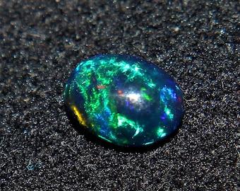 Natural Black Ethiopian Fire opal-6x4 mm Black Opal-Black Opal-Welo fire opal-October birthstone-Opal Stone-Opal Cabochon-Loose Opal Stone