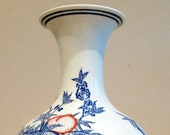 Chinese porcelain plum tree bats vase