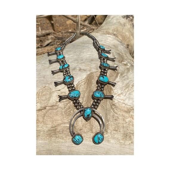 Native American Squash Blossom Necklace