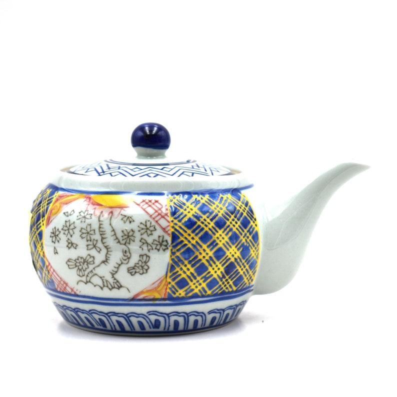 Shizen Cha Japanese Handcrafted Shozui Sansui White Kyusu Teapot