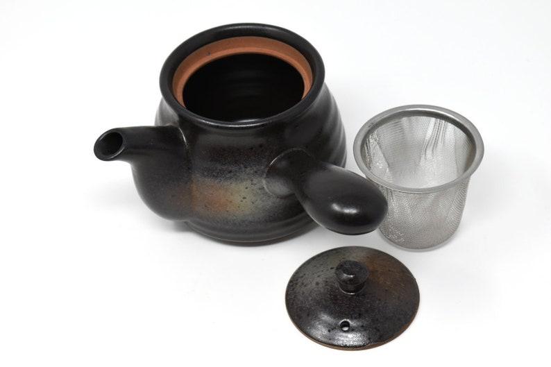 Kuro Bizen Black Kyusu Teapot