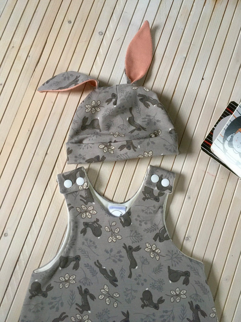With or without the hat. Rabbits in the Honesty Baby Romper