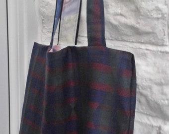 Shoulder Bag Upcycled Eco-friendly Tote Bag, Lined market bag