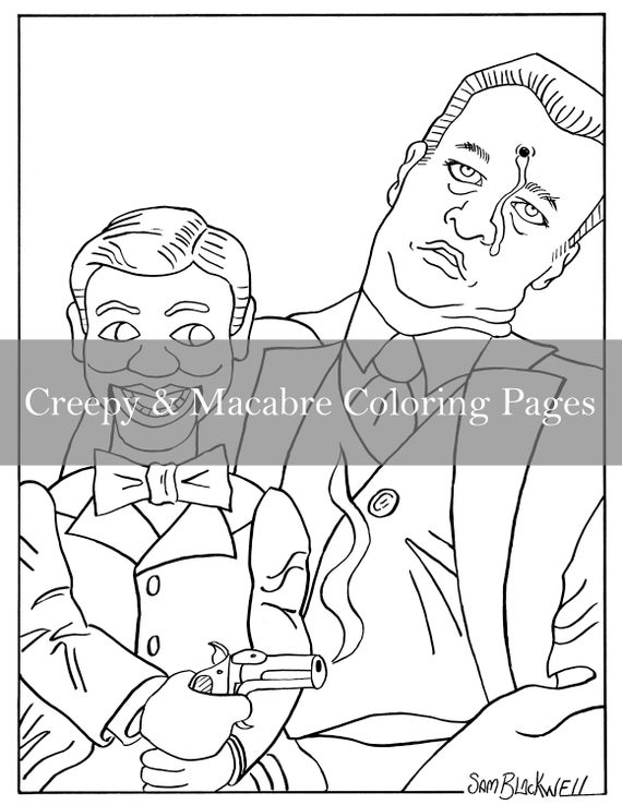 33 Creepy Doll Coloring Pages