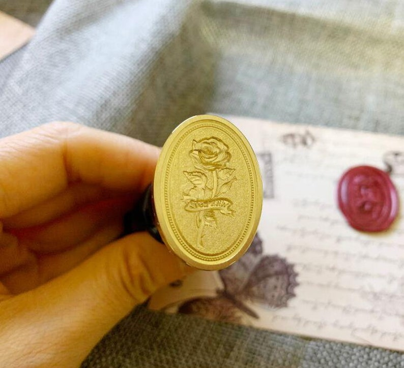 Embossed Wax Seal Stamp Gift Wrapping Tools Stamp with Handle 3D Rose Wax Stamp Wax Seal Stamp,Invitation