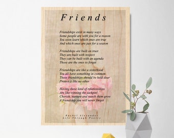 Freundschaft Wand Dekor Geschenk Beste Freundin Freundschaft