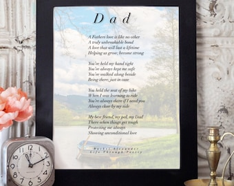 Birthday Dad Gifts, Dad Gifts, Birthday Gift Dad, Wall Art, Daddy Gift, Gift from Son, Gift from Daughter, Dad Poem, Dad Birthday Gift, Life