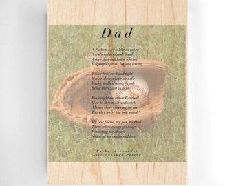 Dad Baseball, Birthday Baseball Gift, Baseball Poem, Dad Baseball Gift, Birthday Dad Gifts, Baseball Daddy Gift, Baseball Gift from Kids,