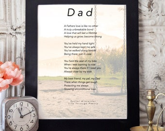 Gift from Daughter, Dad Poem, Daddy Gift, Gift from Son,Life, Dad Birthday Gift, Birthday Dad Gift, Wall Art, Dad Gifts, Birthday Gift Dad,