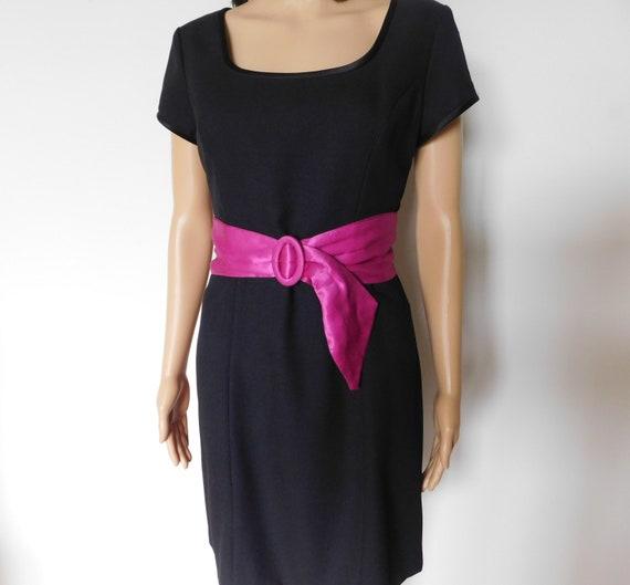 Wide silk cinch belt-fuchsia-hot pink-magenta-3 i… - image 4
