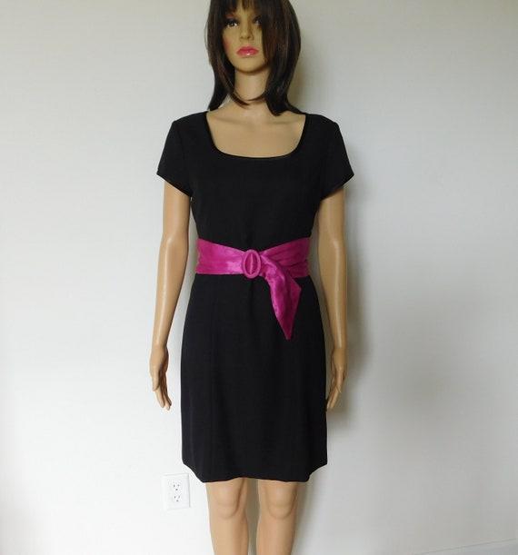 Wide silk cinch belt-fuchsia-hot pink-magenta-3 i… - image 2