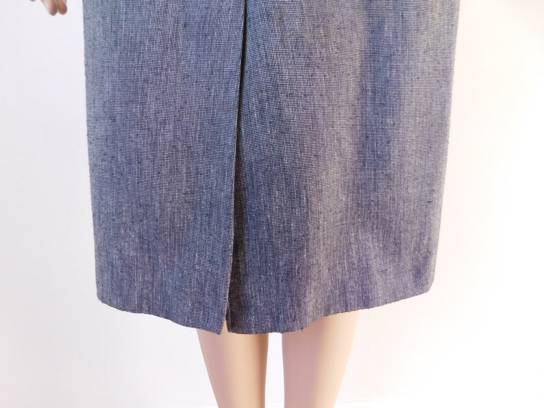 Business skirt suit-Evan Picone-70/'s vintage-classic style-career-Size 4-pencil skirt-fully lined-fitted waist-short sleeves-Free shipping
