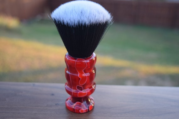 Devil's Red Hot Whet Shaving Brush