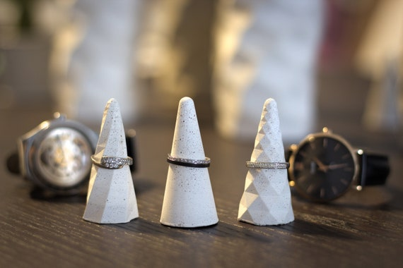 Set of 3 Concrete Ring Holders