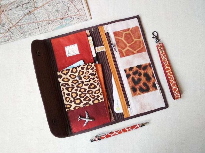 Serengeti/_Elephant Travel document organizer for woman Family passport holder in African designe as travel accessory