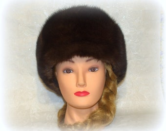 NEW Classic Ladies Warm Winter Soft Faux Fur Quilted Russian Hat Brown S M /& L