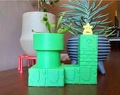 Venus Fly Trap Super Mario Warp Pipe Self Watering Planter, mario pot