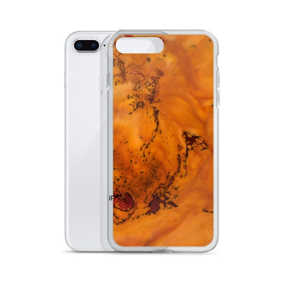 Abstract Orange iPhone Case, Art Case, Bold Orange Phone Case, iPhone X, iPhone 8, iPhone 8, iPhone 7, iPhone 7 Plus, iPhone 6, Protective