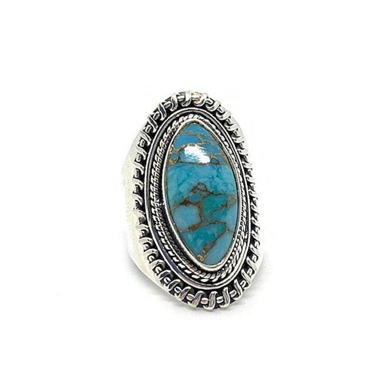 Turquoise Diamond Gypsy Ring