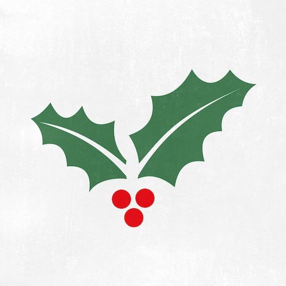 Christmas Holly Svg Holly Svg Mistletoe Svg Winter Svg Etsy