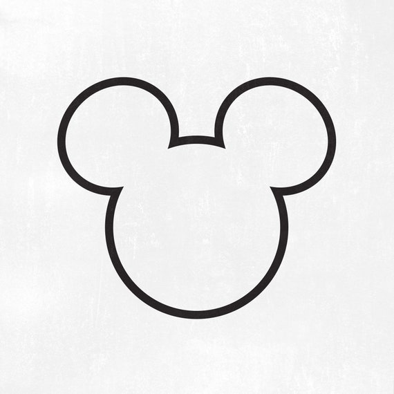 Mickey Head Outline Svg Mickey Svg Dxf Png Instant Etsy