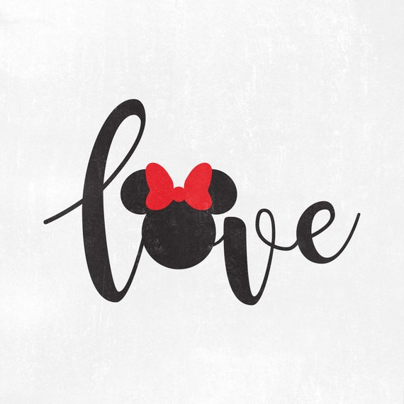 Minnie Love Svg Disney Love Wording Svg Minnie Love Svg Etsy