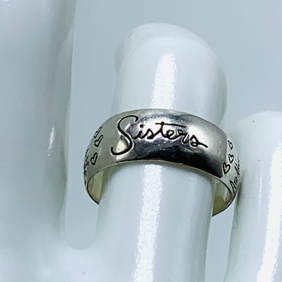 Sterling Silver Sisters Ring Signed LA 925 Soul Si