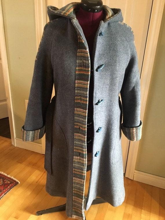 Vintage ladies' wool duffle coat