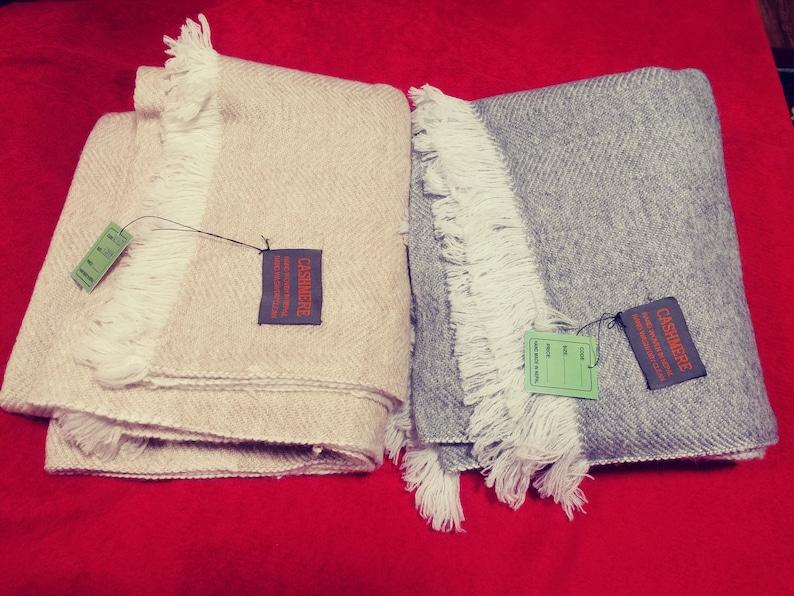 Handloom Pashmina Cashmere Blanket image 0