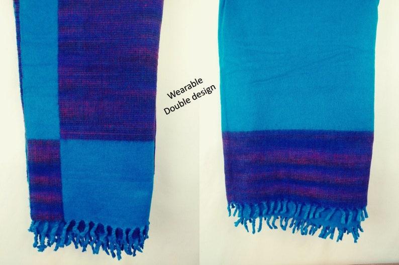Hand loom woolen blanket image 0