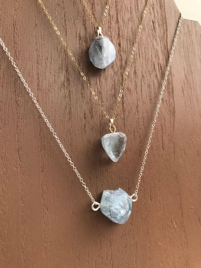 Celestite necklace
