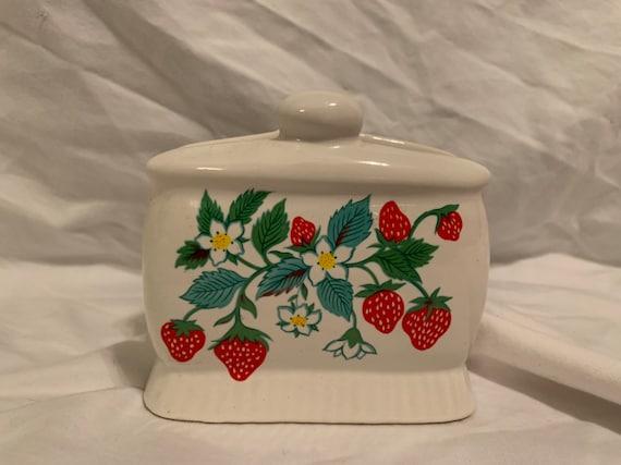 Strawberry Shaped Ceramic Napkin Holder