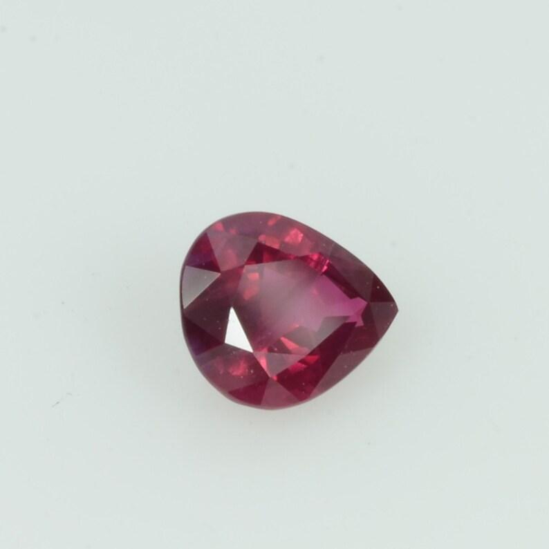 0.42 cts  Natural Vietnam Ruby Loose Gemstone Pear Cut