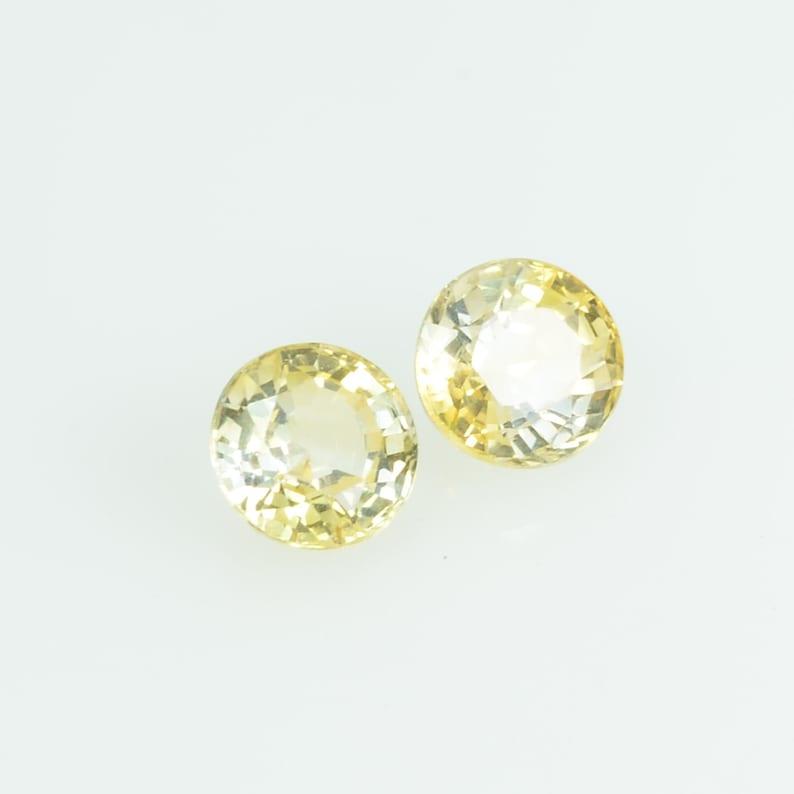 3.8 mm Natural Yellow Sapphire Loose Gemstone Round Cut