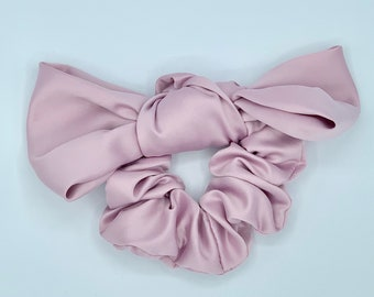 Scrunchies with Bow | Satin Scrunchies | Bow Scrunchies Women | Pretty Scrunchies | Silk Satin Scrunchies| Hair Accessories