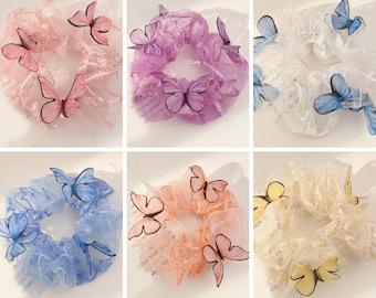 Butterfly Organza Scrunchies | Mesh Scrunchie | Tulle Scrunchie | Trendy Scrunchies | VSCO Scrunchies | 90's Scrunchies | Perfect Gift