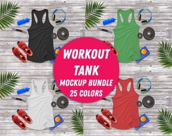 Canva Lilac Tank Top Mockup 8800  Feminine Racerback Tank Mockup  Workout Mockup with Weights  Digital Photography Download Bella