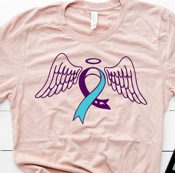 Suicide Loss svg Suicide Loss Ribbon Feather SVG Suicide Loss awareness SVG Suicide Loss Ribbon SVG Suicide Ribbon butterfly