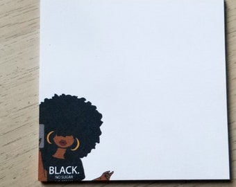 Black Girl Sticky Notes, Post It Notes, Planner Sticky Notes, Office Decor, JW Pioneer Gifts, Unique Gifts For Sisters, Sticky Note Pads