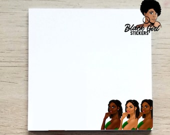 Black Girl Sticky Notes, Note Pads, Post It Notes, Office Decor, Planner Sticky Notes, JW Pioneer Gifts, Unique Gifts For Sisters,