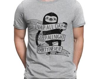 Nap All Day Sleep All Night Party Men Women Unisex Top Hoodie Sweatshirt 1485